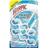 Harpic Toilet Block Fresh Power 6 Marine Splash, Value Pack, 2x39g