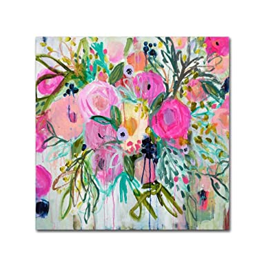 Rose Burst by Carrie Schmitt, 24x24-Inch Canvas Wall Art