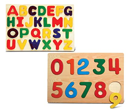 Amazon Puzzled Numbers And Letters Small Educational Rasied