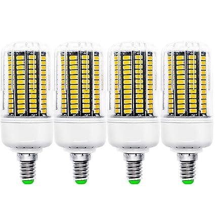 BLOOMWIN 4PCS Bombilla LED bulbo lámpara E14 10W maíz SMD5733 Angulo de haz 360° LED