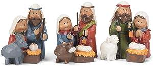 Transpac Mini Animals Natural 2 x 2 Resin Stone Christmas Nativity Figurine Set of 3