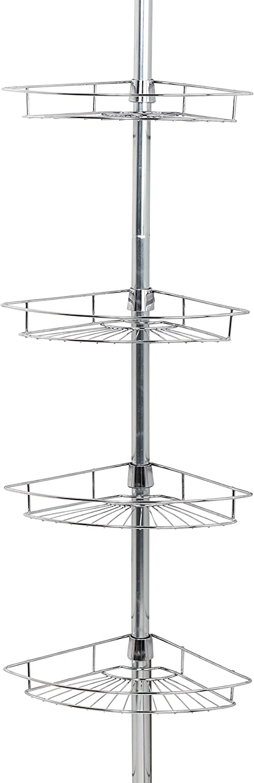 Zenna Home Pole Shower Caddy, Chrome
