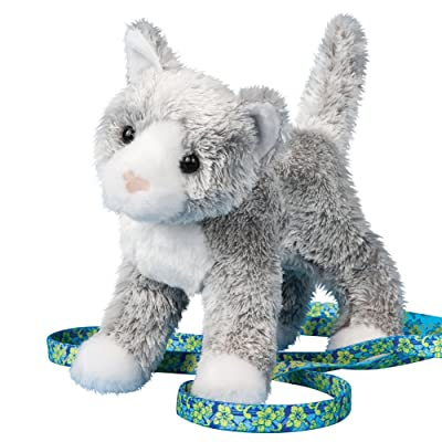 Douglas Scatter Gray Cat Plush Stuffed Animal: Toys & Games