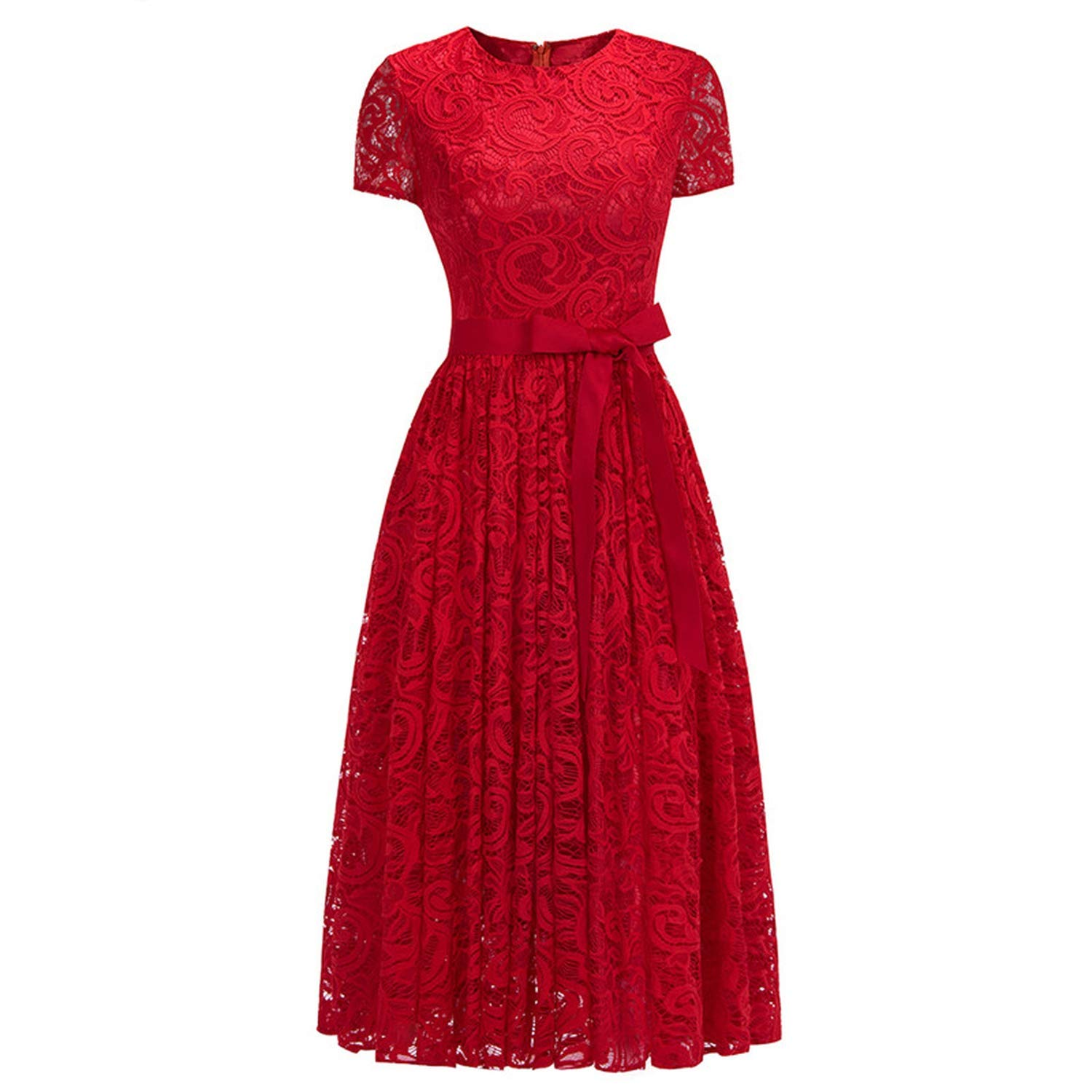 Red Sexy Elegant Pink Lace Short Evening Dress Cap Sleeve A line Evening Gown Party Dress