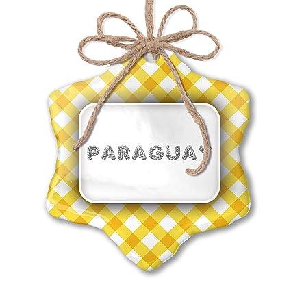 Amazon.com: NEONBLOND Christmas Ornament Paraguay Soccer ...