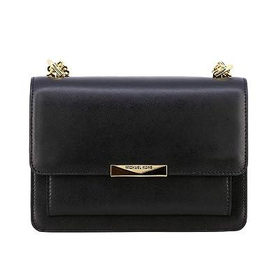 b1a9097e4be1 MICHAEL Michael Kors Women's Leather Jade Shoulder Bag One Size Black:  Handbags: Amazon.com