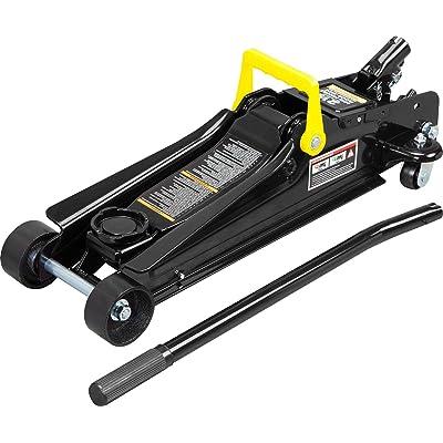 Torin TORT825051 Hydraulic Low Profile Trolley Service/Floor Jack with Dual Piston Quick Lift Pump, 2.5 Ton (5,000 lb) Capacity, Black: Automotive