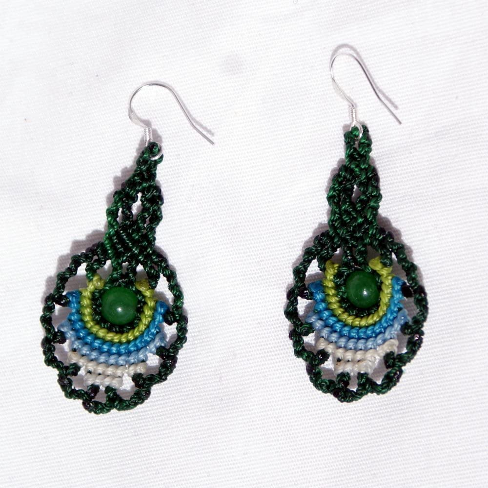 Handmade Peacock and Duck Birds Bottle Cap Fishhook Dangle Earrings