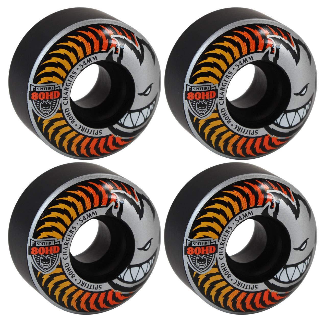 54Mm 80Hd Charger Classic Black Orange/Yellow Fade Skateboard Wheels