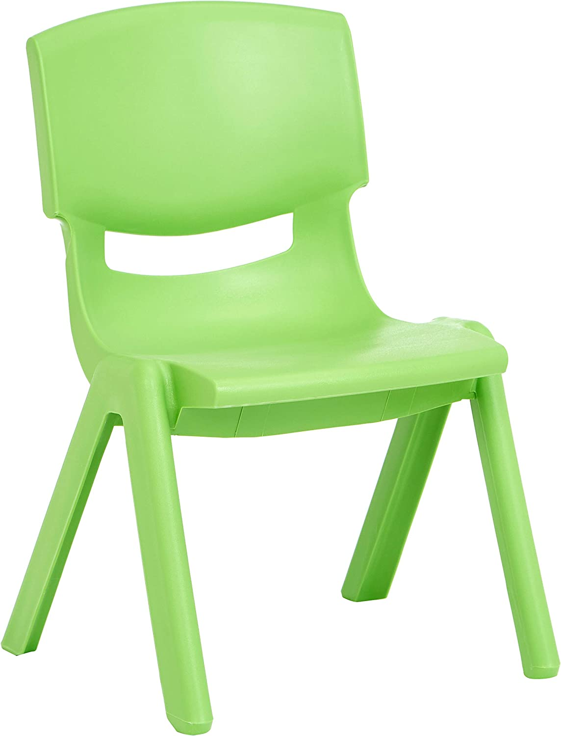 Basics 10 Inch School Classroom Stack Resin Chair, Green, 6-Pack: Industrial & Scientific