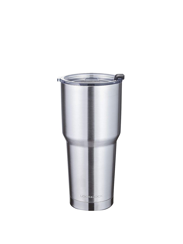 LOCK & LOCK Thermobecher to go - SWING TUMBLER - Isolierflasche Edelstahl auslaufsicher - Thermo Isolierbecher Kaffee, Tee & Kaltes, 700ml, schwarz FOLS6|#Lock&Lock LHC4137