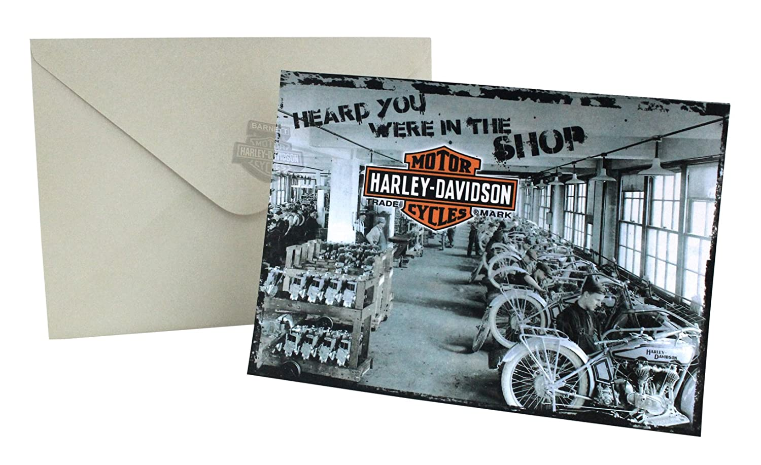 Amazon Harley Davidson In The Shop Get Well Greeting Card