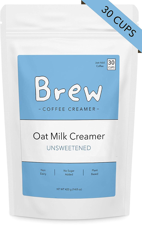 OAT MILK CREAMER BY BREW NON DAIRY COFFEE CREAMER POWDER UNSWEETENED 14 8 OZ