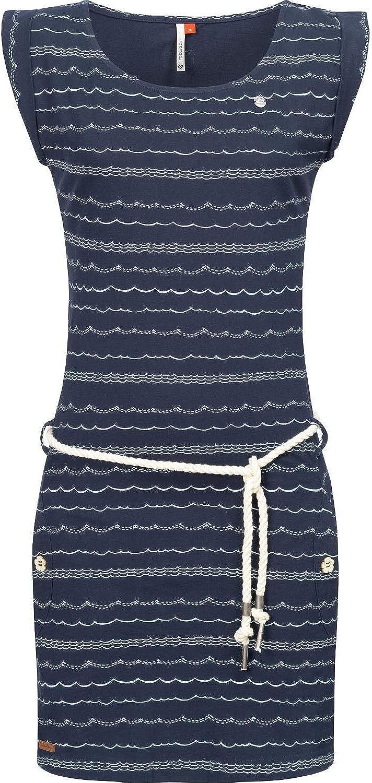Ragwear Damen Kleid Dress Sommerkleid Strandkleid Jerseykleid Freizeitkleid Tag Waves XS-XL