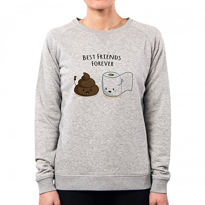 PacDesign Sudadera Mujer Best Friends Forever Card Toilet Love Funny Ironic Nene Ne0377a: Amazon.es: Ropa y accesorios