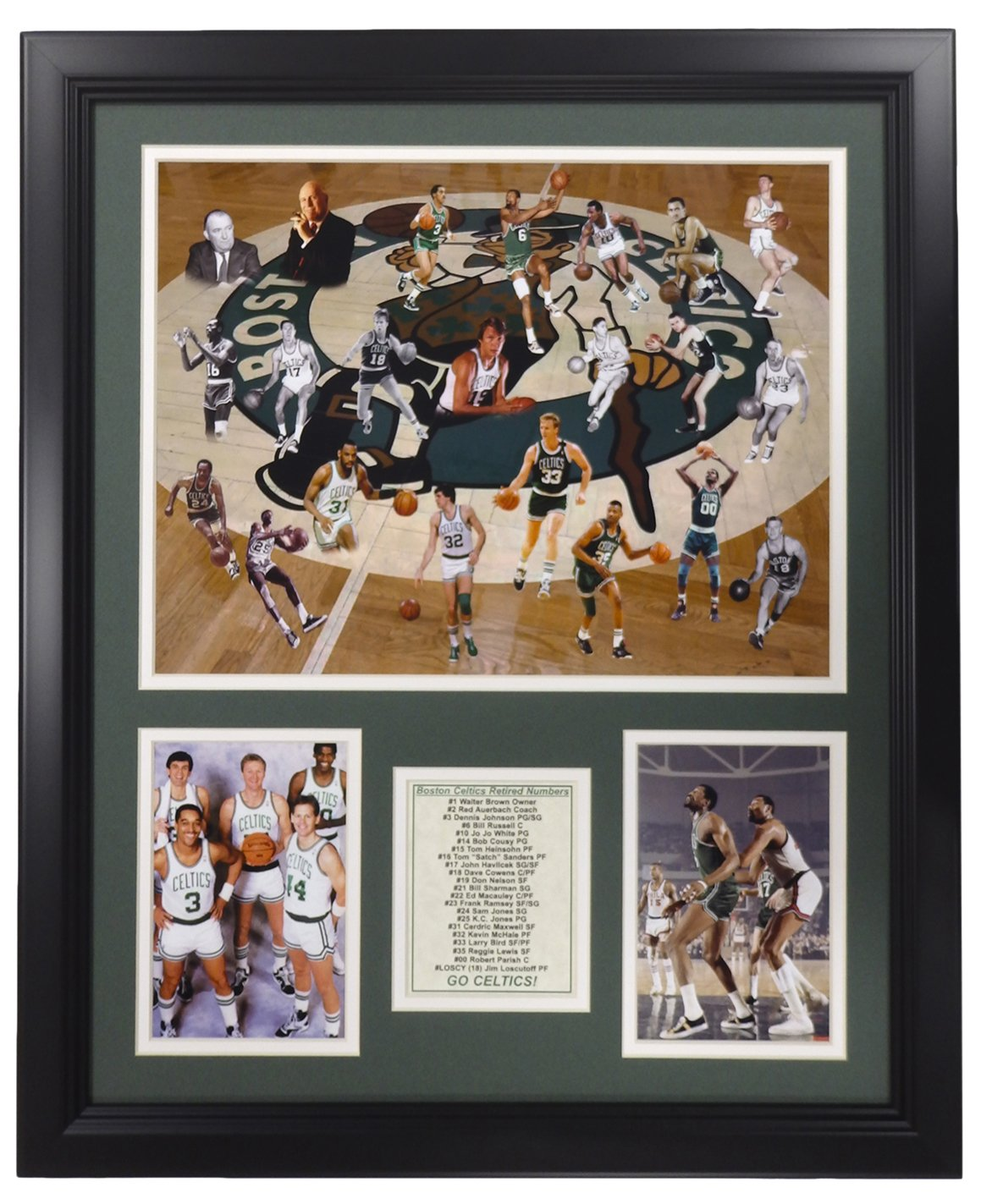 Legends Never Die NBA Boston Celtics All-Time Greats Framed Photo Collage