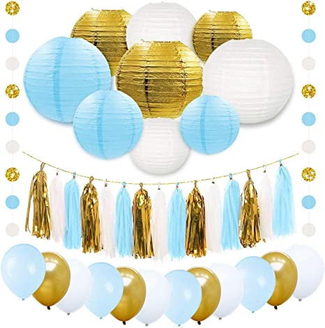 Boy Girl Party Banner Hanging Decoration Balloon Baby Shower Gender Reveal CS