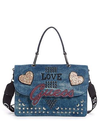 Shoppers y Bolsos de Hombro para Mujer, Color Azul, Marca GUESS, Modelo Shoppers Y Bolsos De Hombro para Mujer GUESS HWED71 Azul: Amazon.es: Ropa y ...