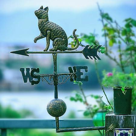 zenggp Viejo Hierro Forjado Perro Y Gato Veleta Tiempo Jardín Decoración Jardín Decoración Veleta,A: Amazon.es: Hogar