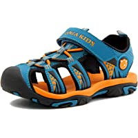 e6ffb1d9cea6b5 Bigcount Boys Girls Outdoor Sport Closed-Toe Sandals Kids Breathable Mesh  Water Athletic Sandals Shoes