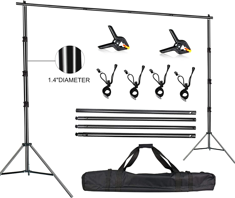 FUDESY Photo Video Studio 10 x 10Ft Heavy Duty Adjustable Backdrop Stand