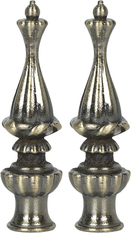 Urbanest Walton Lamp Finial 3 3//8-inch Tall Brushed Nickel