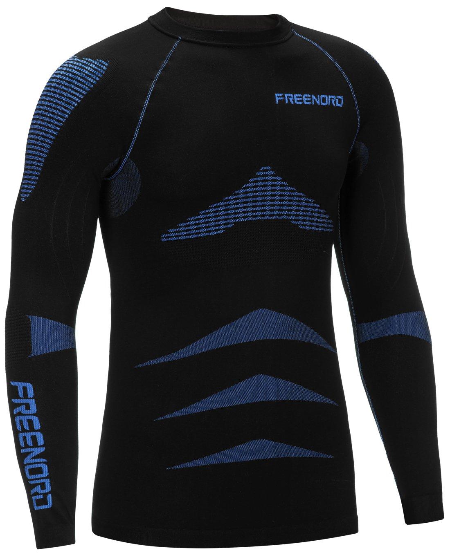 Freenord ENERGYTECH Evo Herren Funktionswäsche Thermoaktiv Atmungsaktiv Base Layer Unterhemd Langarm