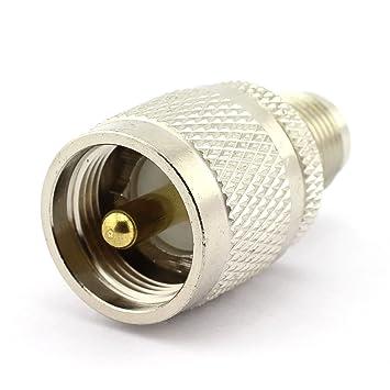 dgzzi 2-Pack UHF macho a conector coaxial RF TNC hembra a UHF adaptador coaxial
