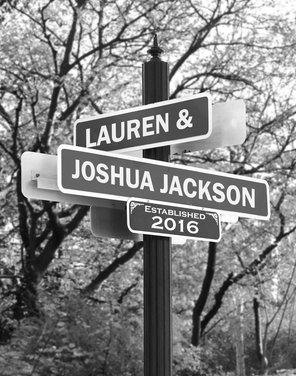 TORRES Personalized Street Sign Home Decor Chic Gift 4x18 104180003051