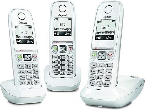 Tel/éfono Tel/éfono DECT, Terminal inal/ámbrico, Altavoz, 100 entradas, Identificador de Llamadas, Negro Gigaset AS470A Solo
