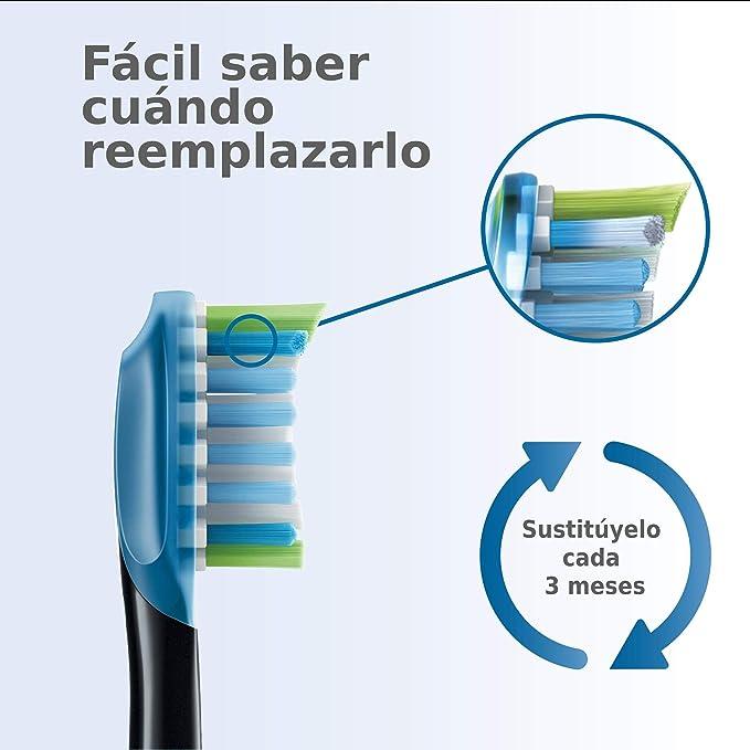 Philips Sonicare HX9042/33 - Pack de dos cabezales control de placa, con tecnología RFID para Diamond Clean Smart, color negro: Amazon.es: Salud y cuidado personal