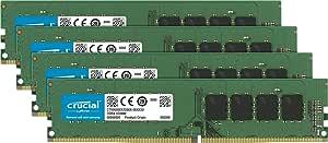 Crucial 64GB Kit (16GBx4) DDR4 2133 MT/s (PC4-17000) DR x8 Unbuffered DIMM 288-Pin Memory - CT4K16G4DFD8213