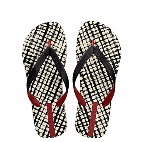 e501dfaaf Image Unavailable. Image not available for. Color  flip flops Men Slippers  Lattice Summer Beach ...