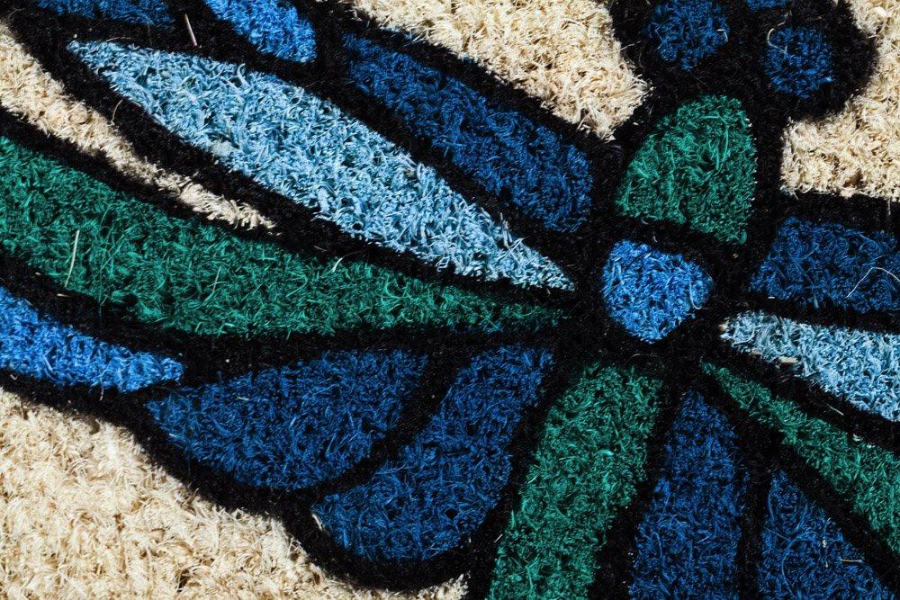 Evergreen Dragonflies Coir Mat 16 x 28 inches