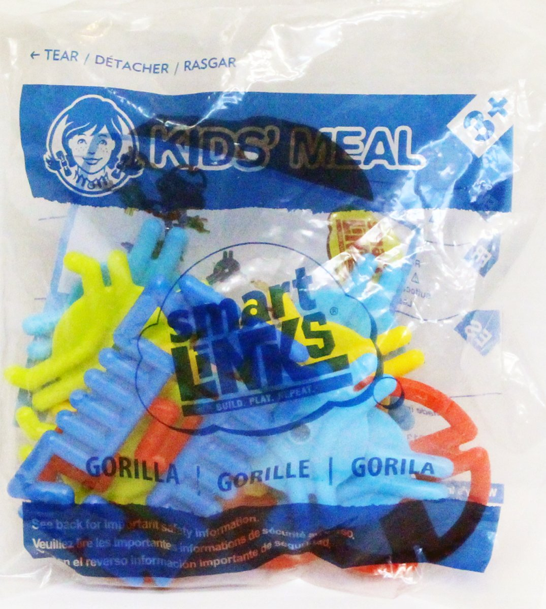 amazon com wendy u0027s kids meal smart links gorilla toy toys u0026 games
