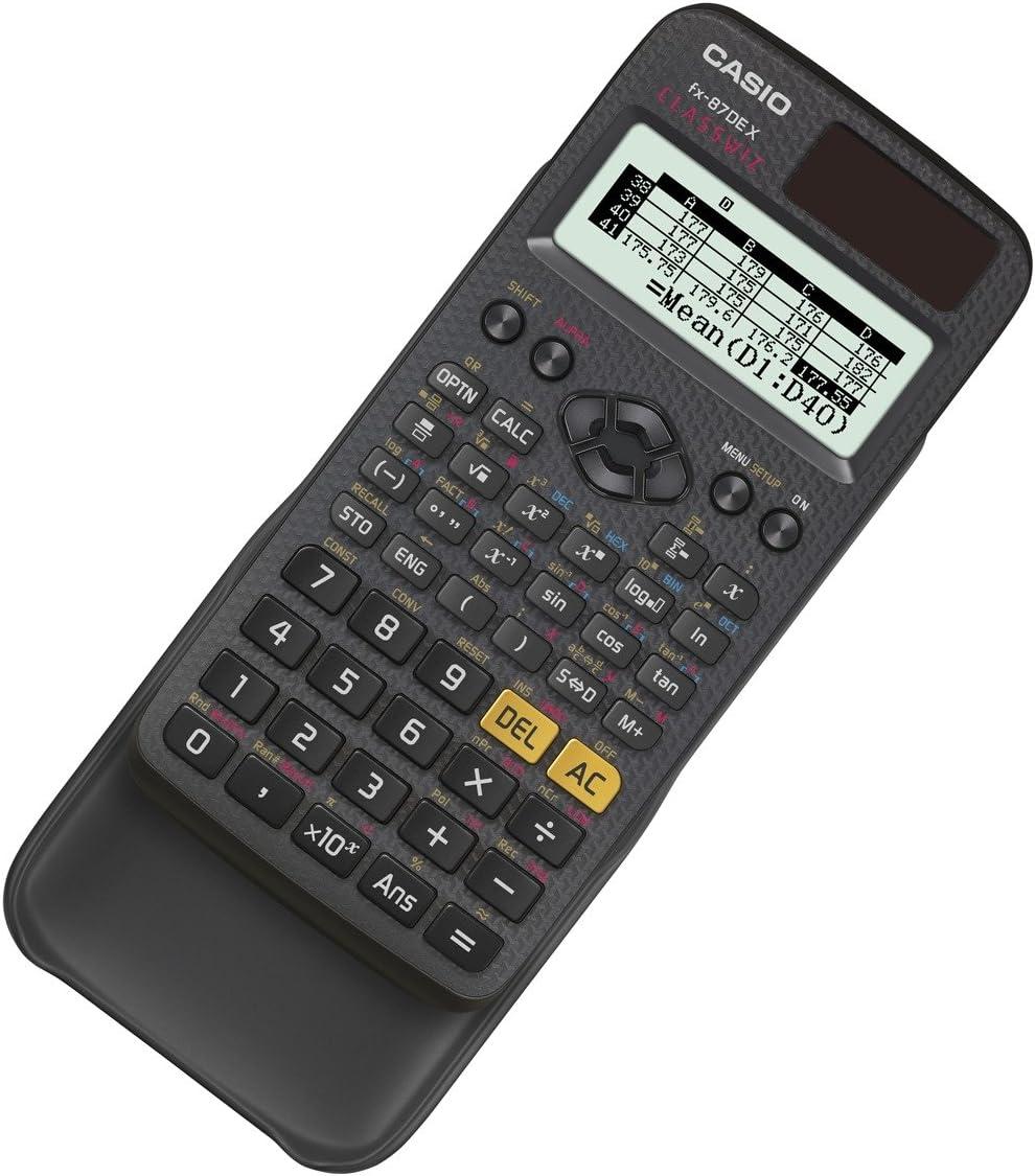 schwarz /& Oxford 100050361 Collegeblock Schule 10er Pack A4 kariert mit Doppelrand 80 Blatt gelocht rot Casio FX-87DE X Wissenschaftlicher Taschenrechner