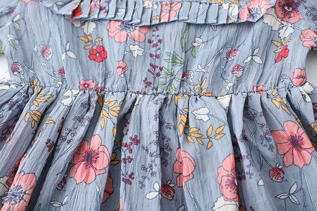 KONFA Teen Baby Girls Ruffles Floral Sundress Dress,Suitable 1-6 Years,Little Princess Long Sleeve Skirt Clothing