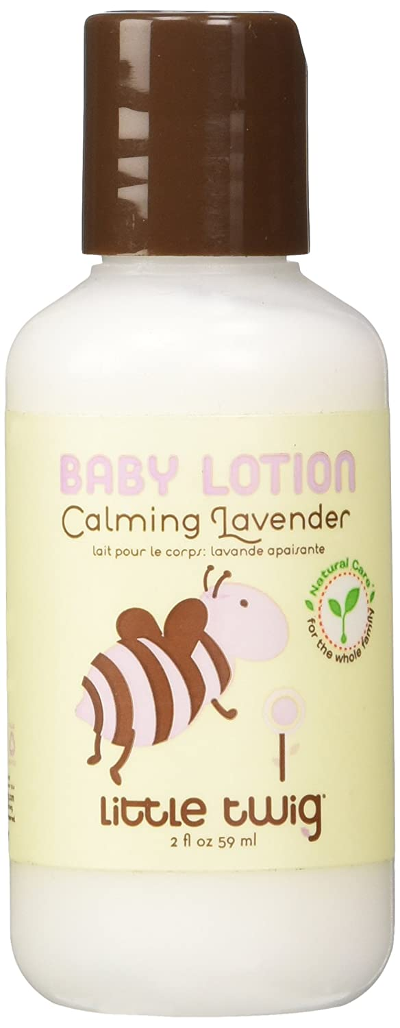 Little Twig All Natural, Hypoallergenic Baby Lotion with A Blend of Lavender, Lemon and Tea Tree Oils, Calming Lavender-Scent, 2-Ounce Bottle BM201