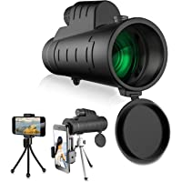 007KK 高放大单管单管望远镜 12X50 手持或三角形支持防尘稳定单筒望远镜与手机搭配,拍照,适合白鸟看狩猎旅行夜视。