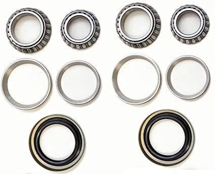 Front Left & Right Wheel Bearing with Seal Kit Fit CHEVROLET C1500 (2WD Gas  model (not fit diesel model)) 1988 1989 1990 1991 1992 1993 1994 1995 1996