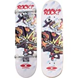 """Movendless YD-0007 Complete Skateboard 31"""" inches, 7 Layer Maple Wood Double Kick Concave Skate Board"""