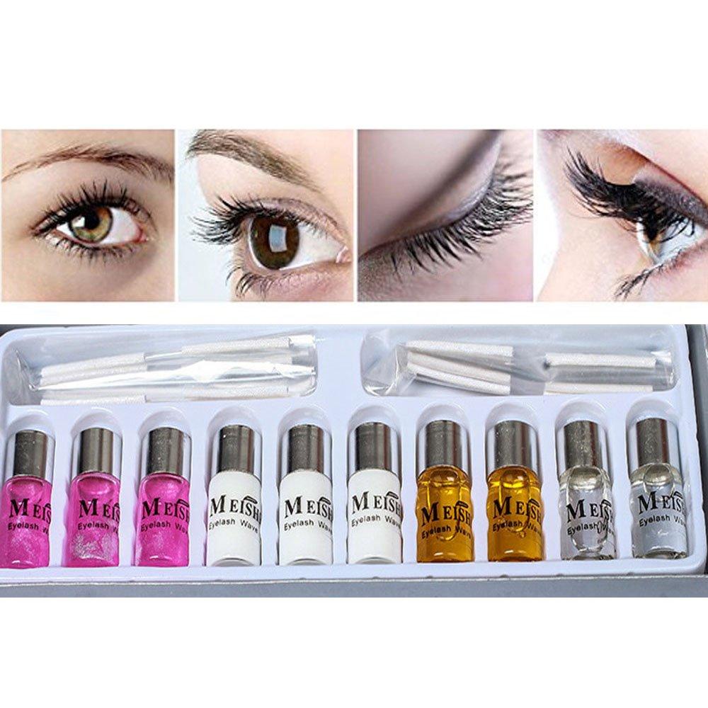 14a3fc9a630 Amazon.com : Eyelash Curling Perming Curler Perm Kit Perm Liquid Eyelash  Wave Lotion Kit : Manicure Kits : Beauty