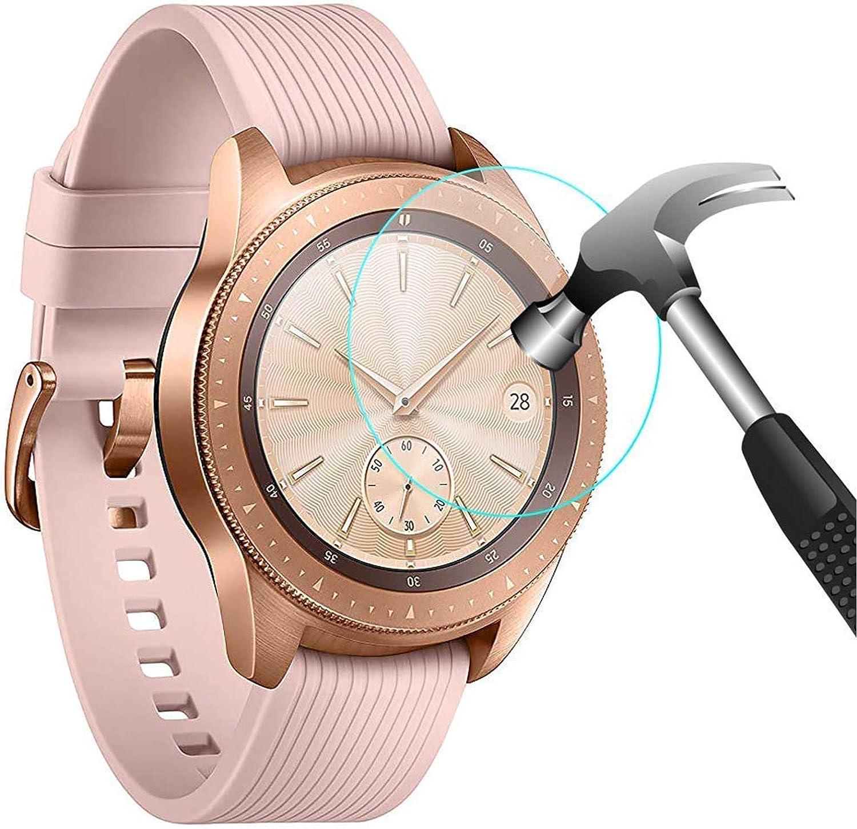 CAVN Compatible con Samsung Galaxy Watch 42mm / Samsung Galaxy Watch 3 41mm Protector de Pantalla [4 Paquetes], Impermeable Vidrio Templado Pantalla Protector para Galaxy Watch 3 41mm [Alta Sensible]