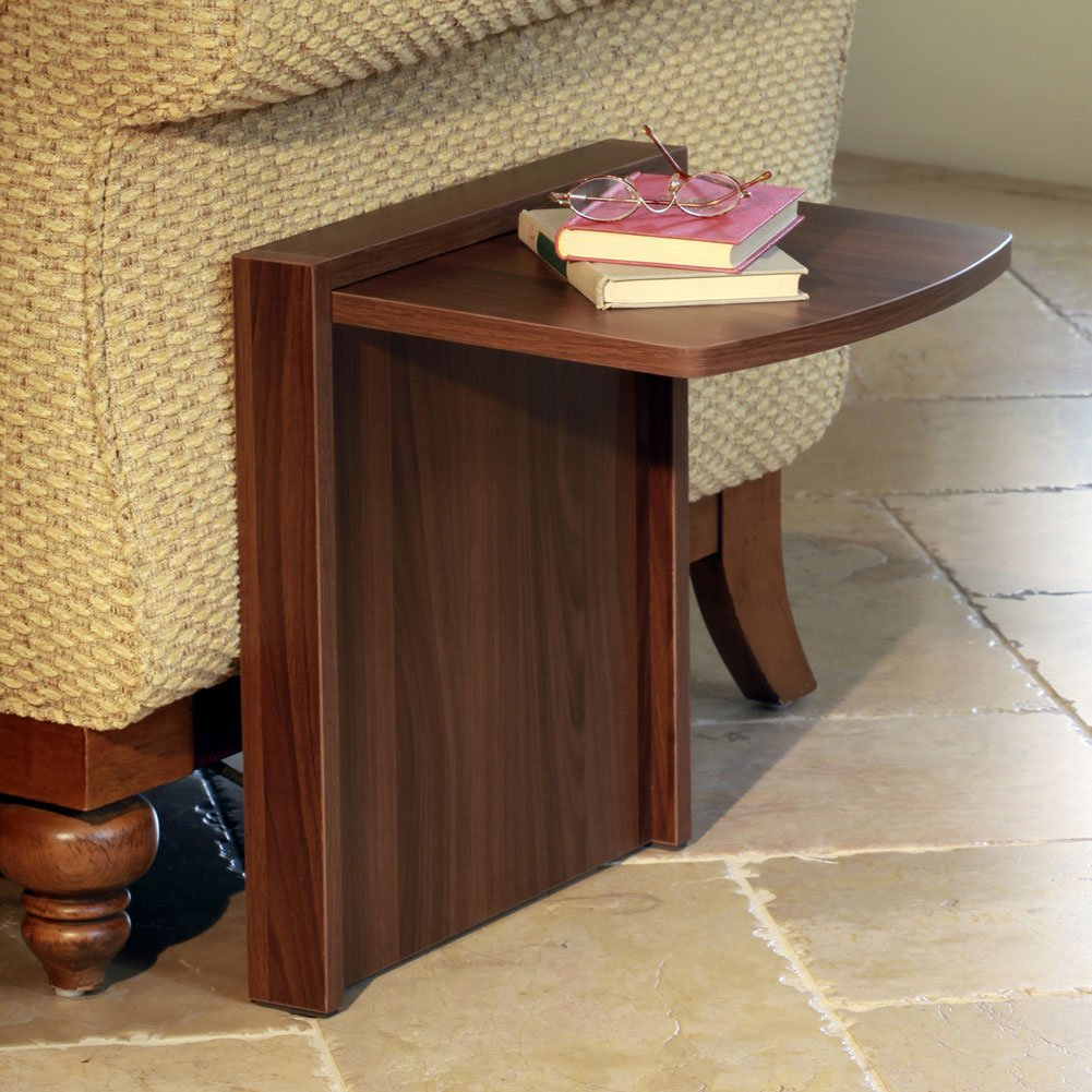 Tuc-Away Tables Folding End Table, Brown