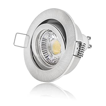 Einbau-Strahler GU10 230V Schwenkbar Einbaurahmen Einbau-Leuchte LED