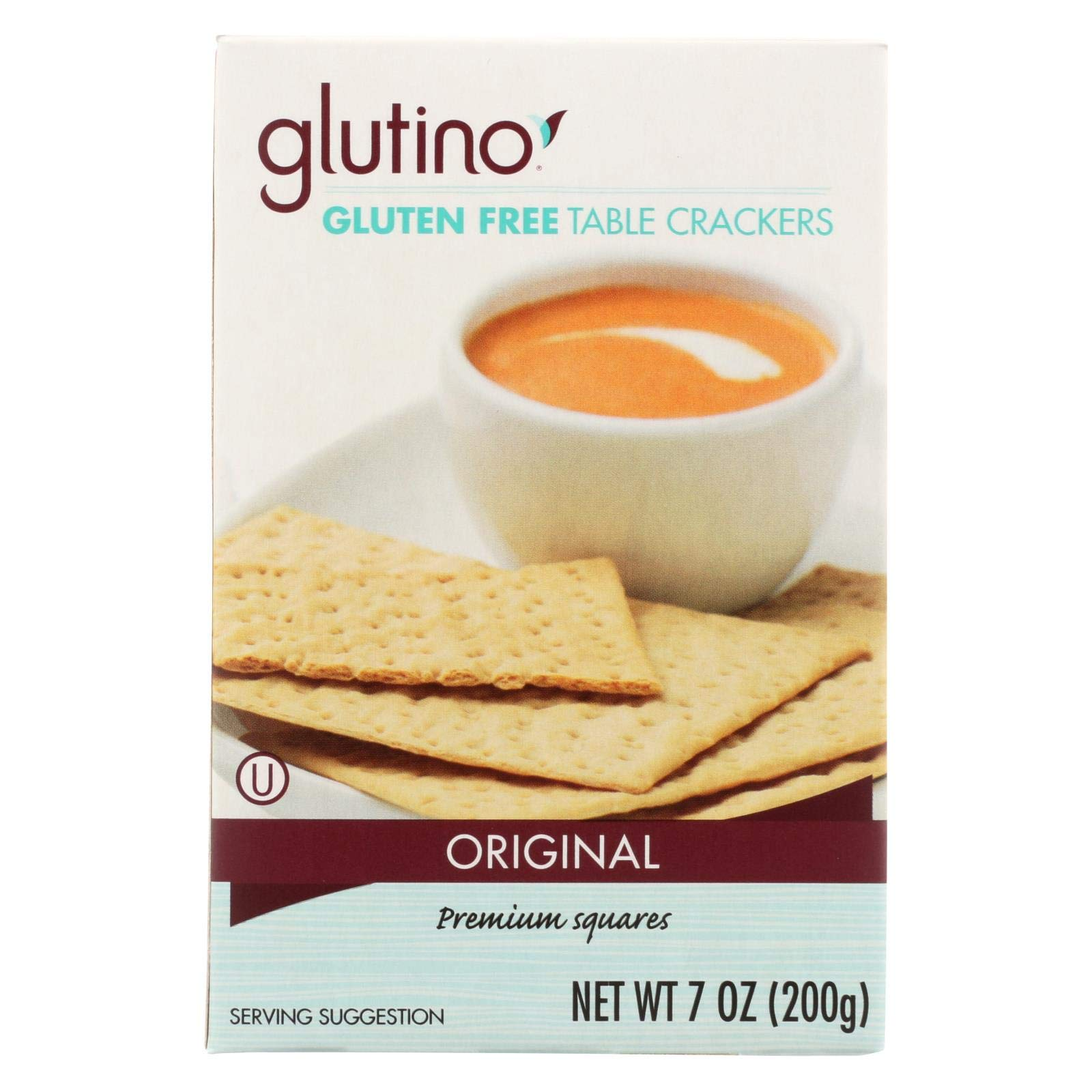 Glutino Table Crackers 7-ounce Boxes (Pack of 12) by Glutino