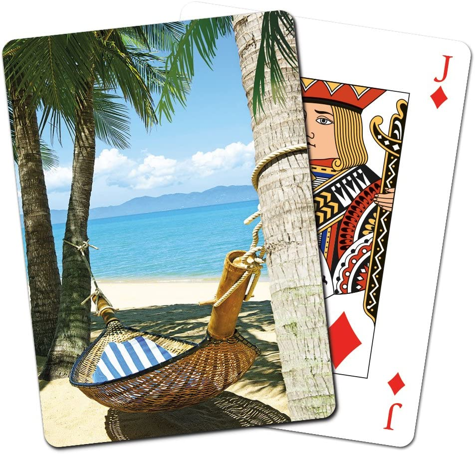 Tree-Free Greetings Deck of Playing Cards Tropical Dreams 2.5 x 0.8 x 3.5 Inches CD15261