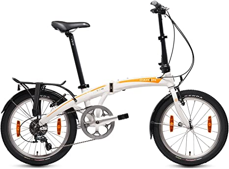 Dahon Mu D10 Bicicleta Plegable, Unisex Adulto, Blanco Cloud, 20 ...