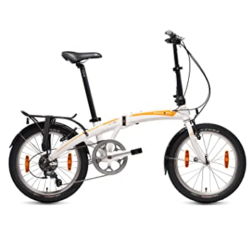 Dahon Mu D10 Bicicleta Plegable, Unisex Adulto, Blanco Cloud, 20""