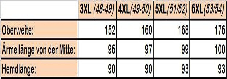 47//48-53//54 3XL-6XL Camicia a Maniche Lunghe Arrivee